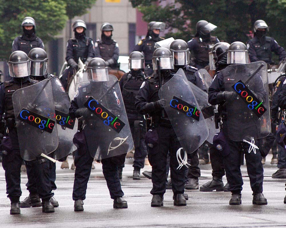 google-riot-police